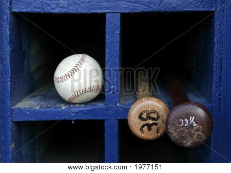 Baseball And Two Bats
