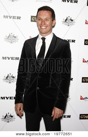 LOS ANGELES - JAN 22:  Rove McManus arrives at the 2011 G'Day USA Australia Week LA Black Tie Gala at Hollywood Palladium on January 22, 2011 in Los Angeles, CA