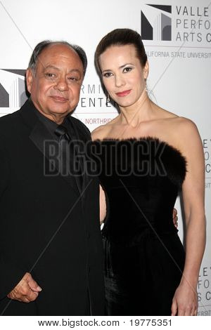 LOS ANGELES - JAN 29:  Cheech Marin and wife Natasha Rubin arrives at the Valley Performing Arts Center Opening Gala at California State University, Northridge on January 29, 2011 in Northridge, CA