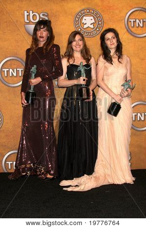 LOS ANGELES - JAN 30:  Paz de la Huerta, Kelly Macdonald, Aleksa Palladino in the Press Room at the 2011 Screen Actors Guild Awards  at Shrine Auditorium on January 30, 2011 in Los Angeles, CA