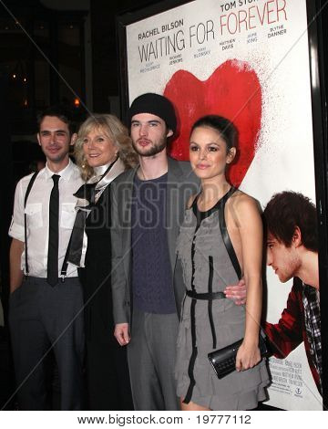 """LOS ANGELES - FEB 1: Scott Mechlowicz, Blythe Danner, Tom Sturridge, Rachel Bilson arrives at the """"Waiting For Forever"""" Premiere at Pacific Theaters at The Grove on February 1, 2011 in Los Angeles, CA"""