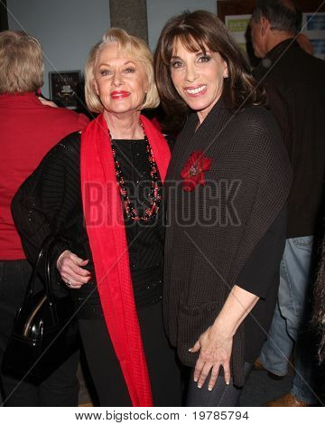 LOS ANGELES - FEB 18:  Tippi Hedren, Kate Linder at the VDay - Vagaina Monologues Performance at Barnsdall Gallery Theater on February 18, 2011 in Los Angeles, CA