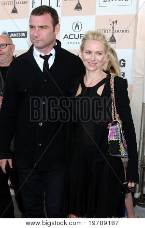 SANTA MONICA, CA - FEB 26:  Liev Schreiber and Naomi Watts arrives at the 2011 Film Independent Spirit Awards at the Beach on February 26, 2011 in Santa Monica, CA