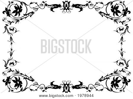 Black And White Ornamental Frame