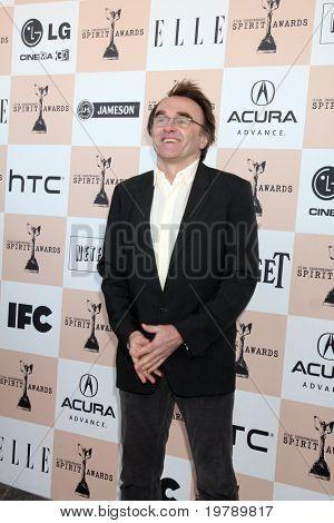 SANTA MONICA, CA - FEB 26:  Danny Boyle arrives at the 2011 Film Independent Spirit Awards at the Beach on February 26, 2011 in Santa Monica, CA
