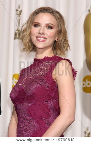 LOS ANGELES -  FEB 27: Scarlett Johansson arrives  in the Press Room at the 83rd Academy Awards at Kodak Theater, Hollywood & Highland on February 27, 2011 in Los Angeles, CA