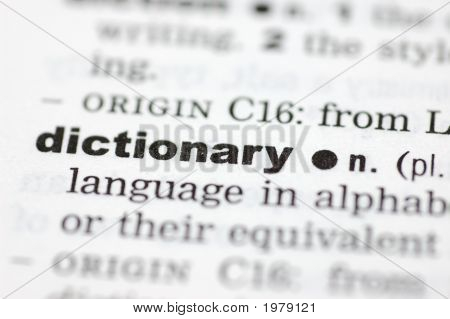 Definition Of Dictoinary