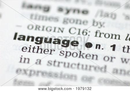 Definition der Sprache