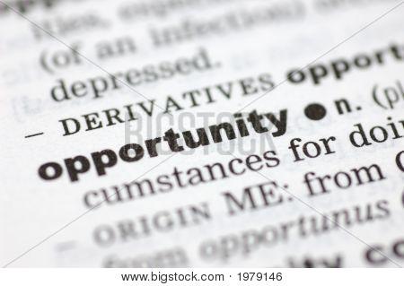 Definición de oportunidad