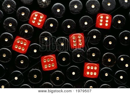 Red Dices Showing Six