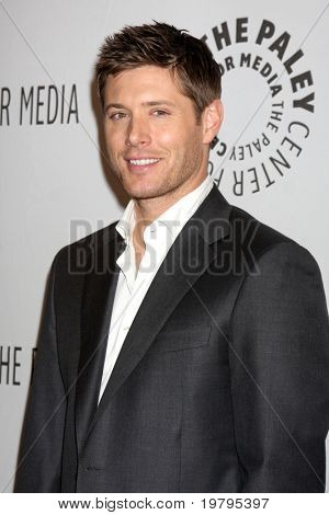 "LOS ANGELES - MAR 13:  Jensen Ackles arrives at the ""Supernatural"" PaleyFest 2011 at Saban Theatre on March 13, 2011 in Beverly Hills, CA"