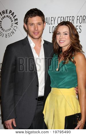 "LOS ANGELES - MAR 13:  Jensen Ackles and Danneel Harris Ackles arrive at the ""Supernatural"" PaleyFest 2011 at Saban Theatre on March 13, 2011 in Beverly Hills, CA"