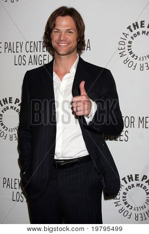 "Los Angeles mar 13: Jared Padalecki kommt in der ""supernatural"" Paleyfest 2011 Saban Theatre"