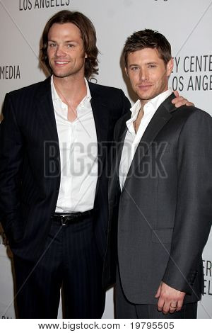 "LOS ANGELES - MAR 13:  Jared Padalecki and Jensen Ackles arrive at the ""Supernatural"" PaleyFest 2011 at Saban Theatre on March 13, 2011 in Beverly Hills, CA"