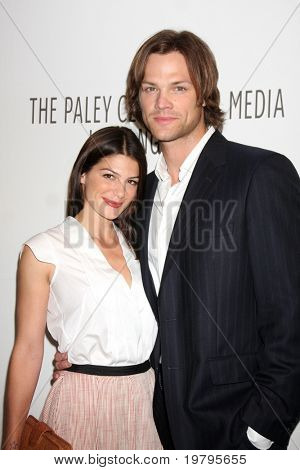 """LOS ANGELES - MAR 13:  Genevieve Cortese and Jared Padalecki arrive at the """"Supernatural"""" PaleyFest 2011 at Saban Theatre on March 13, 2011 in Beverly Hills, CA"""