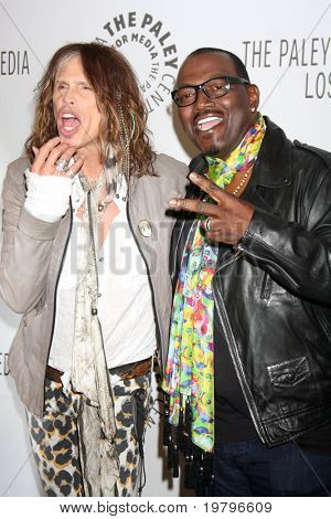 "LOS ANGELES - MAR 14:  Steven Tyler, Randy Jackson arriving at the ""American Idol"" PaleyFest 2011 at Saban Theatre on March 14, 2011 in Beverly Hills, CA"