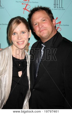 LOS ANGELES - MAR 18:  Lauralee Bell, Scott Martin arriving at The Young & the Restless 38th Anniversary Party Hosted by The Bell Family at Avalon Hotel on March 18, 2011 in Beverly HIlls, CA