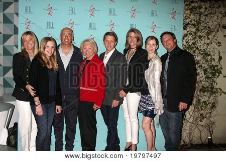 LOS ANGELES - MAR 18: Maria, Sabrina, Bill Jr, Lee, Brad, Colleen, Lauralee Bell, & Scott Martin at The Young & the Restless 38th Anniv Party at the Avalon Hotel on March 18, 2011 in Beverly HIlls, CA