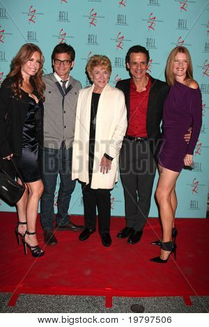 LOS ANGELES - MAR 18:  Tracey Bregman, Greg Rikaart, Jeanne Cooper, Christian LeBlanc, Michelle Stafford at The Y&R 38th Anniv Party at the Avalon Hotel on March 18, 2011 in Beverly HIlls, CA
