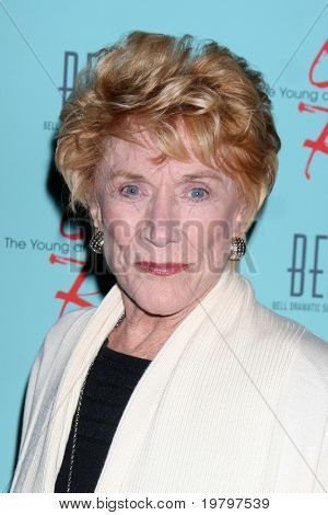 LOS ANGELES - MAR 18:  Jeanne Cooper arriving at The Young & the Restless 38th Anniversary Party Hosted by The Bell Family at Avalon Hotel on March 18, 2011 in Beverly HIlls, CA