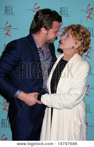 18: Billy Miller, Jeanne Cooper arriving at The Young & the Restless