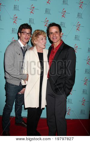 LOS ANGELES - MAR 18:  Greg Rikaart, Jeanne Cooper, Christian LeBlanc arriving at The Young & the Restless 38th Anniversary Party at Avalon Hotel on March 18, 2011 in Beverly HIlls, CA