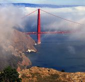 Golden Gate Towers Over Fog Bank