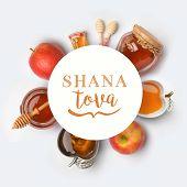 Jewish Holiday Rosh Hashana Banner Design poster