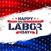 Happy Labor Day.america Labor Day For Greeting Card.typography Labor Day Badges Design.vector Labor poster