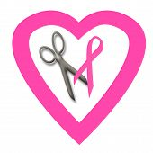 pic of breast cancer awareness ribbon  - pink ribbons breast cancer awareness white background - JPG
