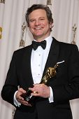 LOS ANGELES -  27:  Colin Firth in the Press Room at the 83rd Academy Awards at Kodak Theater, Holly