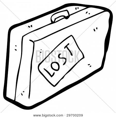lost luggage cartoon (raster version)