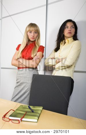 Two Serious Businesswomen
