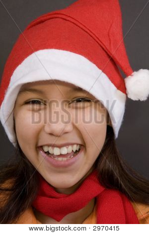 Teen In Christmas Mood