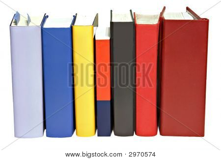 Books Standing Abreast