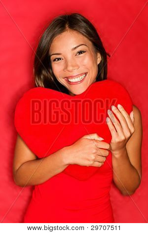 Love Girl Holding Heart