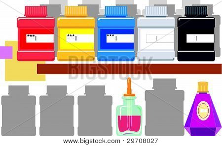 Containers With A Paint.eps