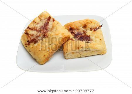 Focaccia Bread On A Plate