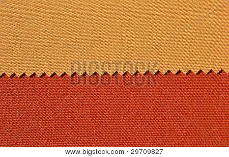 Yellow and orange textiles