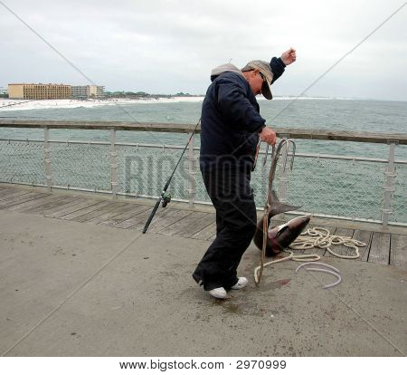 Fisherman Catching Fish