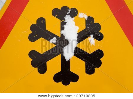 Traffic sign (snowflake)