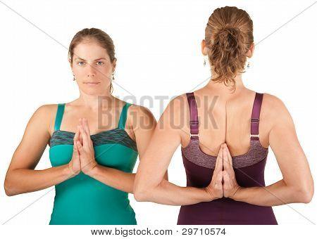 Women In Namaskar Posture