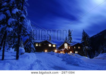 Moon Over Cabin