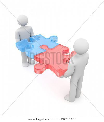 Success metaphor. Image contain clipping path