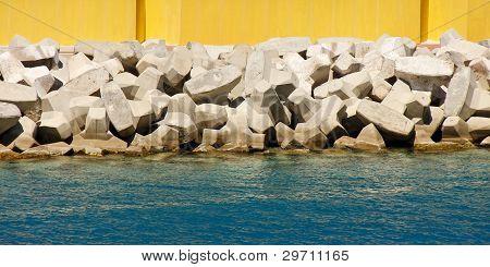 Man Made Sea Wall