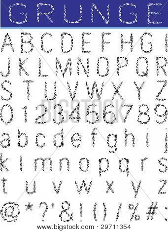 Grunge Alphabet, Schriftsatz