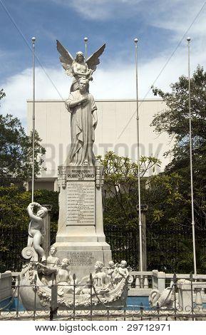 Statue Ruben Dario In Plaza Of The Revolution Managua Nicaragua