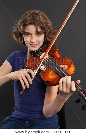 Practicing The Violin