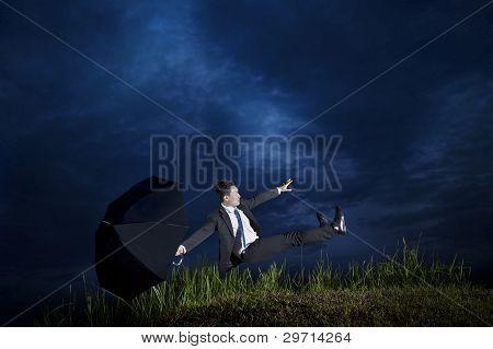 Businessman Falling Down