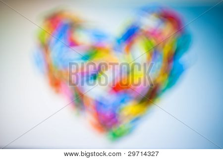 Abstract Blur Colorful Heart